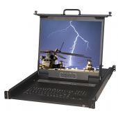 "1U 17"" MIL-STD-810F Rackmount Monitor, LED Backlit"
