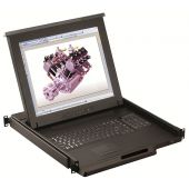 "1U 17"" Short Depth (17.3"") Rackmount Monitor, Touchpad or Trackball - UL Certified (Part#RM-111-17SD)"