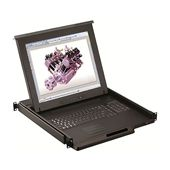 "1U 19"" LCD Rackmount Monitor, Touchpad or Trackball (Part#RM-111-19)"
