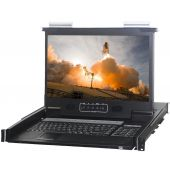 "1U 17"" 1920 X 1080 Rackmount Monitor with 8 Port HDMI KVM Switch"
