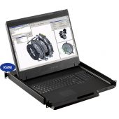 """1U 19"""" Wide Screen Rackmount Monitor with 16 Port KVM, 2 Consoles (Part#RM-131-19W-801)"""