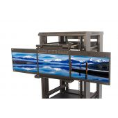 "2U Flip Down Triple Rackmount LCD Drawer 17"" LCD (Part# RMD-151-X17Ax3-U)"
