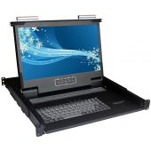 "1U 17"" 1920 X 1080 Rackmount Monitor with 8 Port DVI KVM Switch"