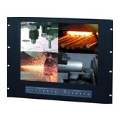 "10U 20"" Rackmount LCD Panel with Integrated Quad Split Screen (Part# RMP-161-20QD)"
