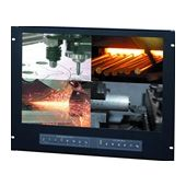 "8U 19"" Wide Screen LCD Panel with integrated Quad Split Screen (Part# RMPW-161-19QD)"