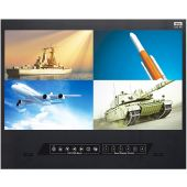 "9U 21.5"" Rackmount FHD Quad Split Screen"